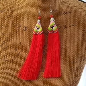 Hand made Boho Fringe Earrings
